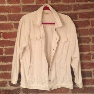 White Demin Madewell Jacket